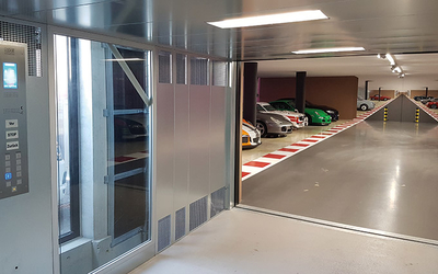 Lödige Industries enables 24 additional parking places for oldtimer storage in Switzerland