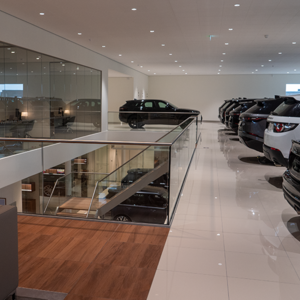 Interior view | Car lift for a showroom | Jaguar and Landrover