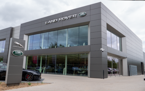 The building | Car lift for a showroom | Jaguar and Landrover