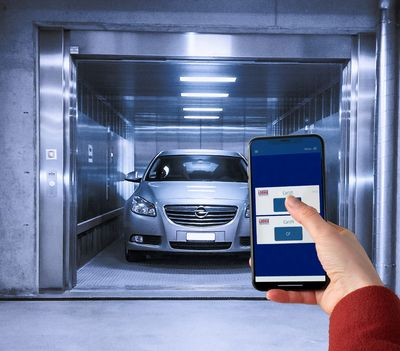 Contactless operation of car lifts for smart and safe access