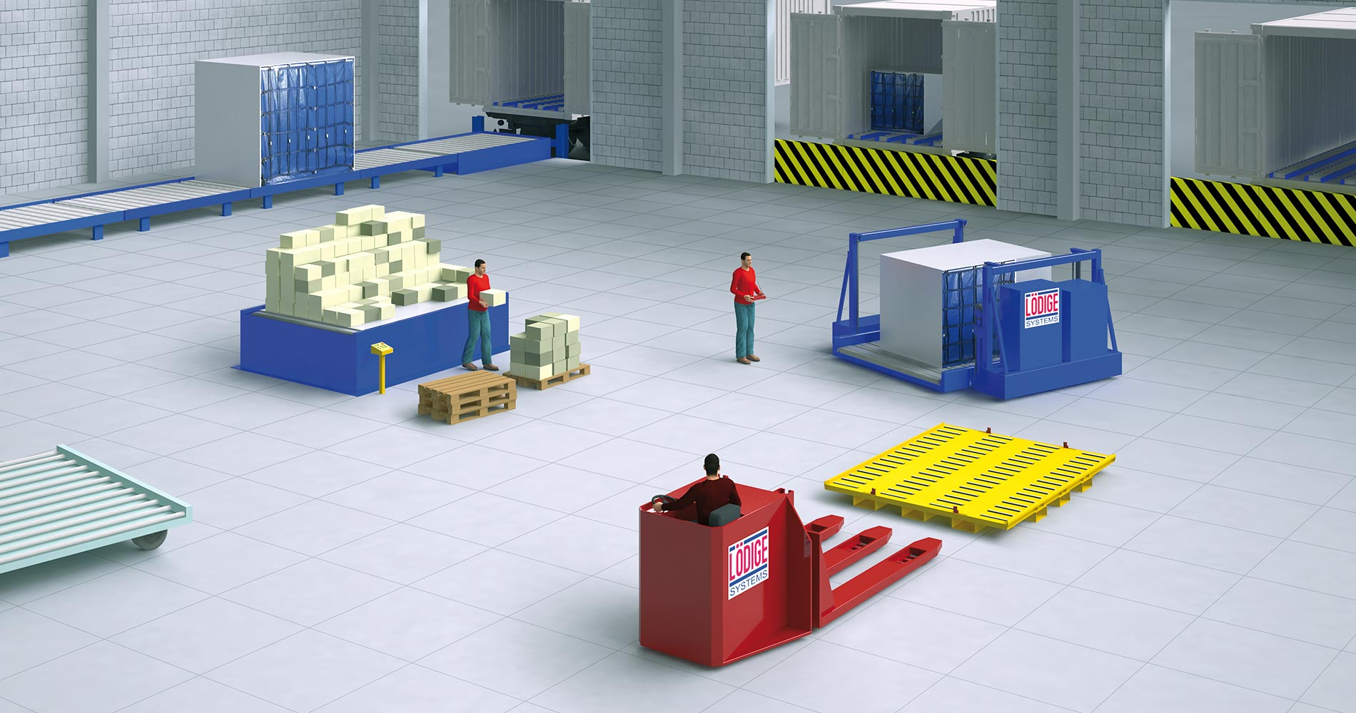 Lödige air freight terminal equipment overview